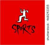 sports pictogram | Shutterstock .eps vector #468292355