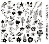 hand drawn black and white... | Shutterstock .eps vector #468294476