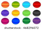 empty badge.starburst.pricetag. | Shutterstock . vector #468296072