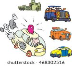 set of comic non brand... | Shutterstock .eps vector #468302516