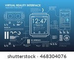set of hud elements for virtual ... | Shutterstock .eps vector #468304076