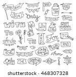 doodle calligraphic funny... | Shutterstock . vector #468307328