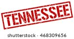 tennessee stamp. red square... | Shutterstock .eps vector #468309656