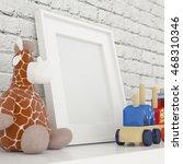 white photo frame mock up in... | Shutterstock . vector #468310346