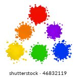 primary and secondary colors in ... | Shutterstock . vector #46832119