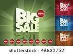 3d retro big sale text and...