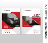 red vector annual report... | Shutterstock .eps vector #468331472