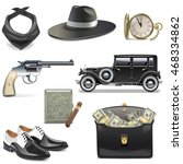 vector gangster icons | Shutterstock .eps vector #468334862