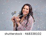 smiling happy mixed race woman... | Shutterstock . vector #468338102