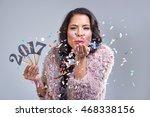 pretty glamourous woman... | Shutterstock . vector #468338156