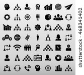 business and training icon set... | Shutterstock .eps vector #468341402