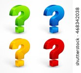 color question mark set on...   Shutterstock .eps vector #468342038