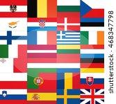 all flags  eu member states ...   Shutterstock . vector #468347798