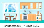cozy kitchen interior in flat... | Shutterstock .eps vector #468356612