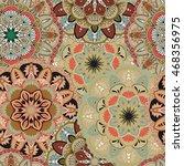 seamless pattern. vintage... | Shutterstock .eps vector #468356975
