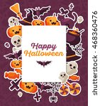 halloween concept banner with... | Shutterstock .eps vector #468360476