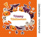 halloween concept banner with... | Shutterstock .eps vector #468360482