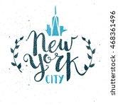 new york city template hand... | Shutterstock .eps vector #468361496
