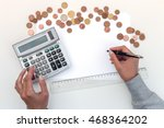 woman managing her financial... | Shutterstock . vector #468364202