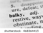 Small photo of Balky