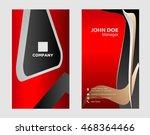 business card template  vector...   Shutterstock .eps vector #468364466