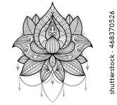 hand drawn lotus flower for... | Shutterstock .eps vector #468370526