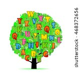 abstract tree with colorful... | Shutterstock .eps vector #468372656