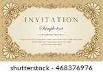 invitation card vector design | Shutterstock .eps vector #468376976
