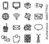 communication objects or icons... | Shutterstock .eps vector #468377942