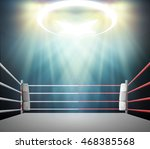 boxing ring with illumination... | Shutterstock . vector #468385568