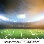 american football stadium 3d. | Shutterstock . vector #468385925