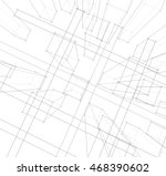 architecture abstract  3d... | Shutterstock . vector #468390602