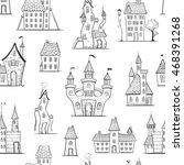 seamless pattern of cute... | Shutterstock .eps vector #468391268