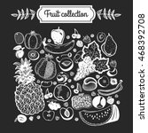 big fruit set collection vector ... | Shutterstock .eps vector #468392708