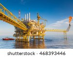 oil and gas central processing... | Shutterstock . vector #468393446