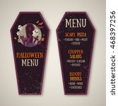 halloween menu design in coffin ... | Shutterstock .eps vector #468397256