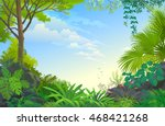 vast blue skies above never... | Shutterstock .eps vector #468421268