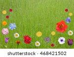 Flowers In The Summer Landscap...