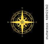 golden wind rose icon | Shutterstock .eps vector #468421562