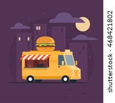 food truck. fast food delivery. ...
