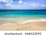 new year 2017 is coming concept.... | Shutterstock . vector #468423092