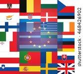 all flags  eu member states ...   Shutterstock . vector #468426902