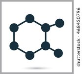 chemical compound icon on the... | Shutterstock .eps vector #468430796
