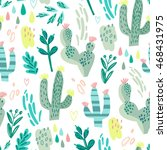 wonderful cacti pattern in... | Shutterstock .eps vector #468431975