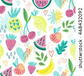 adorable vector pattern of... | Shutterstock .eps vector #468432092