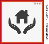 house vector icon | Shutterstock .eps vector #468445598