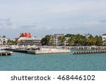commercial pier on the coast of ... | Shutterstock . vector #468446102