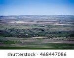 green fields of farmland in...   Shutterstock . vector #468447086