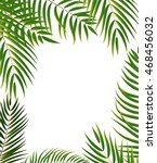 beautifil palm tree leaf ... | Shutterstock .eps vector #468456032
