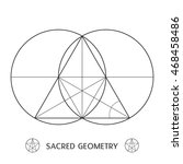 classic sacred geometry symbol. ... | Shutterstock .eps vector #468458486
